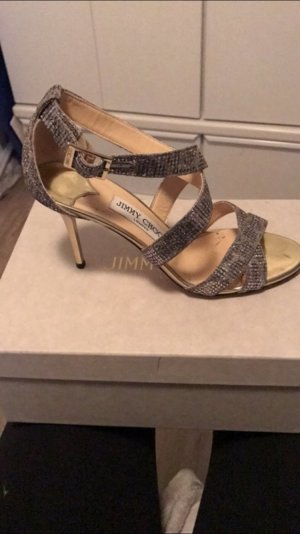 Jimmy Choo Lottie Leopard Glitter Brown Pumps