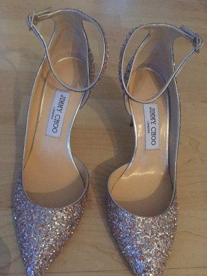 Jimmy Choo Lucy Pumps in camelia mix Farbe Glitzer Rose