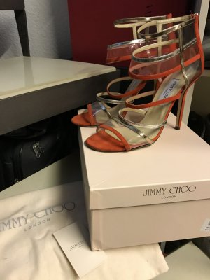 Jimmy Choo High-Heeled Sandals red-gold-colored