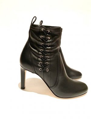 JIMMY Choo MALLORY 85 Black Nappa Leather Booties