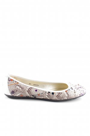 Jimmy Choo Ballerines Mary Jane blanc cassé-gris clair motif animal