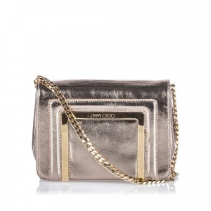 Jimmy Choo Metallic Leather Ava Crossbody