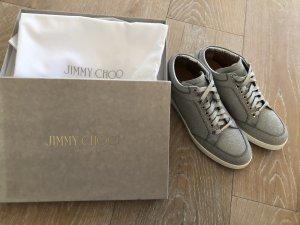 Jimmy Choo MIAMI Sneaker silber Glitzerleder Gr. 40 akt. Koll.NEU