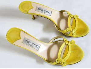 Jimmy Choo Heel Pantolettes yellow