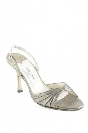 Jimmy Choo Peeptoe Pumps goldfarben Party-Look