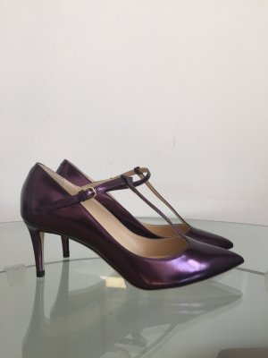 Jimmy Choo Stiletto rouge mûre cuir