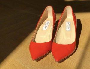 Jimmy Choo Chaussure à talons carrés orange