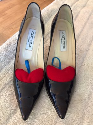 JIMMY CHOO Pumps Lack-Schwarz