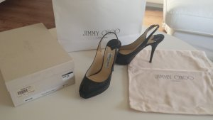 Jimmy Choo Peep Toe Pumps zwart