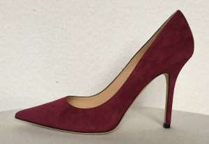 Jimmy Choo, Pumps, Veloursleder, light burgundy, EU 38,5, neu