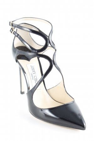"Jimmy Choo Tacones de tiras ""Decolleté High Lancer 100 Pumps Black"" negro"