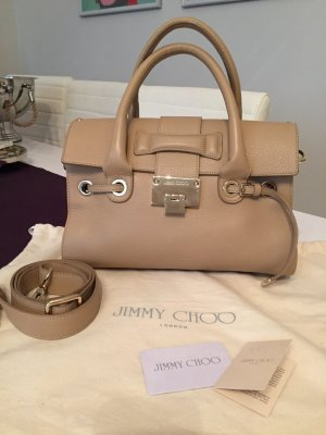 Jimmy Choo Borsa larga beige-color cammello Pelle