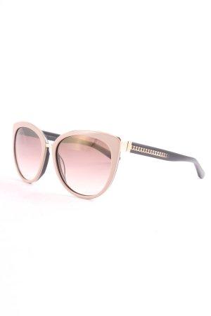 Jimmy Choo runde Sonnenbrille schwarz-blasslila Casual-Look