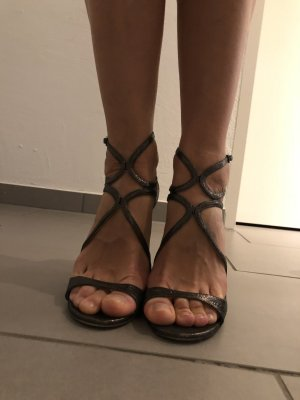 Jimmy Choo Strapped Sandals bronze-colored