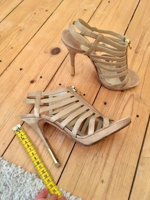 Jimmy Choo Strapped Sandals gold-colored-beige