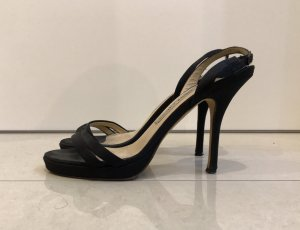 Jimmy Choo Strapped High-Heeled Sandals black