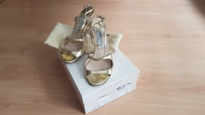 Jimmy Choo Strapped High-Heeled Sandals gold-colored