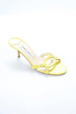 Jimmy Choo Sandaletten gelb klassischer Stil