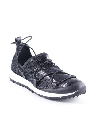 "Jimmy Choo Sneaker stringata ""Andrew Low Sneaker Black"" nero"