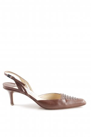 Jimmy Choo Slingback-Pumps braun Vintage-Look
