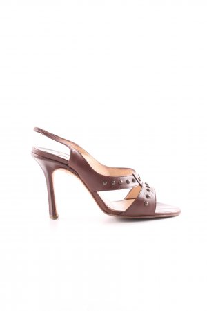 Jimmy Choo Slingback Pumps bronze-colored-gold-colored spot pattern casual look