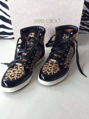 Jimmy Choo Sneaker 151Tokio Leopard Laser Cork in Mesh