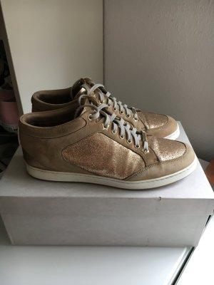 Jimmy Choo Sneaker Schuhe beige Gold Gr. 37,5
