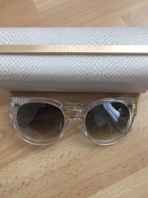 Jimmy Choo Occhiale da sole rotondo oro-bianco