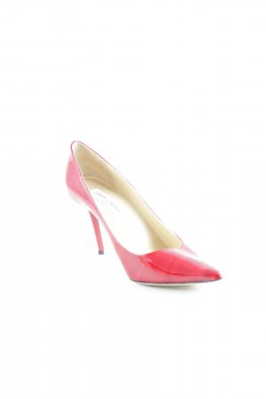 "Jimmy Choo Spitz-Pumps ""Moire Patent – Red"" dunkelrot"