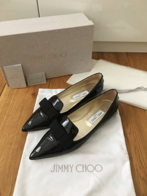 Jimmy Choo Ballerinas with Toecap black leather