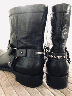 Jimmy Choo Buskins black-gold-colored