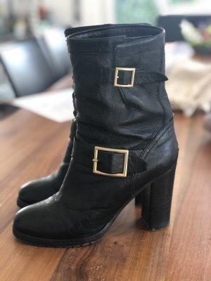 Jimmy Choo Botas deslizantes negro-color oro