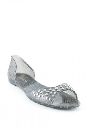 Jimmy Choo Sandalias de playa gris-color plata brillante