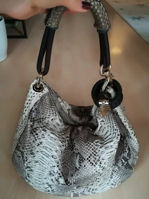 Jimmy Choo Tasche aus weißem und honigfarbenem Phytonleder