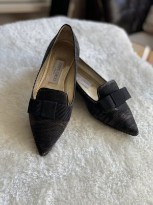 Jimmy Choo Ballerinas with Toecap gold-colored-black