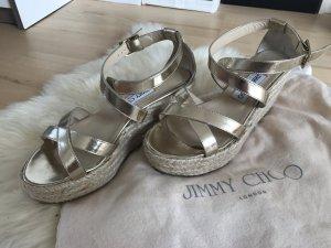 Jimmy Choo Platform High-Heeled Sandal rose-gold-coloured-gold-colored