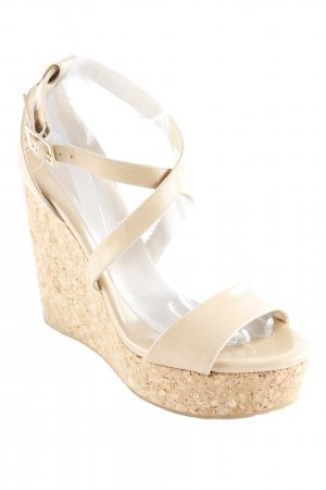 Jimmy Choo Wedges Sandaletten creme Casual-Look