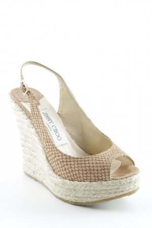 Jimmy Choo Wedges Sandaletten nude Casual-Look