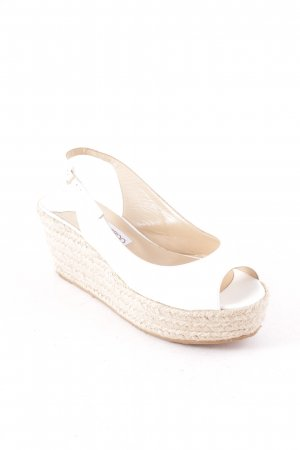 "Jimmy Choo Wedges Sandaletten ""POLARIS PAT"" weiß"