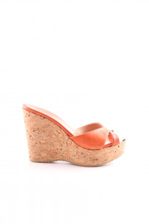 Jimmy Choo Wedges Sandaletten rot Casual-Look