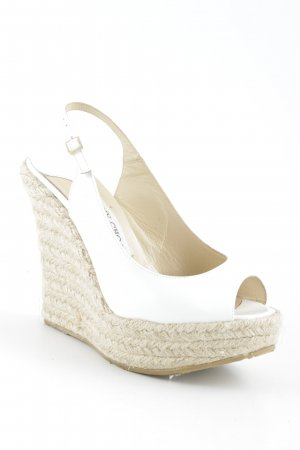 Jimmy Choo Wedges Sandaletten weiß-beige Beach-Look