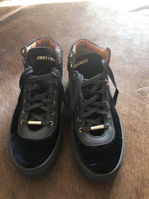 Jimmy chop sneaker samt blau