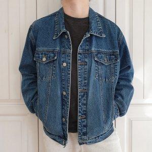 Jinglers Jeansjacke Jeans jacke True vintage L oversize Blau Mantel