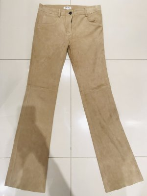 Leather Trousers sand brown leather