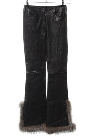 jitrois Pantalone in pelle nero stile stravagante