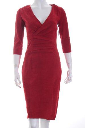 jitrois Leren jurk rood elegant