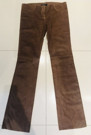 Leather Trousers bronze-colored