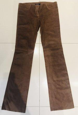 Pantalón de cuero color bronce