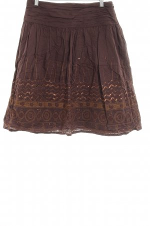 JJB Benson Crash Skirt brown ethnic pattern Aztec print