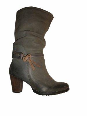 JK Acid Vintage Leder Echtleder Schuhe Stiefel Schlupfstiefel grau Gr. 37 neu